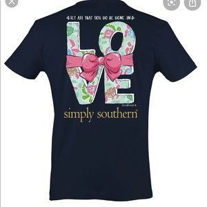 Simply southern navy blue T-shirt